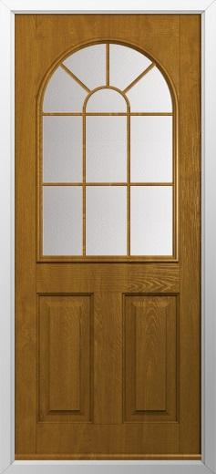 2 Panel Sunburst Composite Door Composite Front Doors