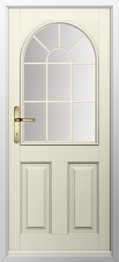 2 Panel Sunburst Composite Door
