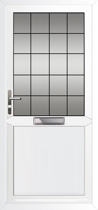 Upvc Doors Front Back Doors Flat Panel With Midrail