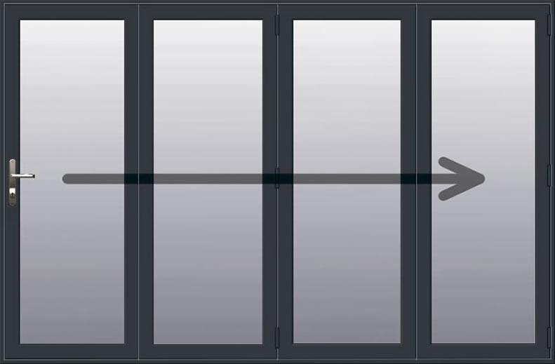 4 Pane - Aluminium Bifold Door | Aluminium Bi-folding Doors