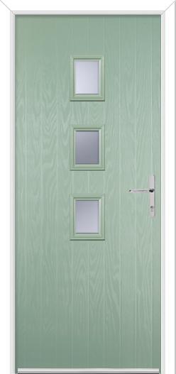 3 Square Center Composite Door