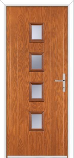 4 Square Center Composite Door
