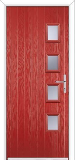 4 Square Handle Composite Door