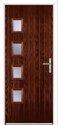 4 Square Hinge Composite Door
