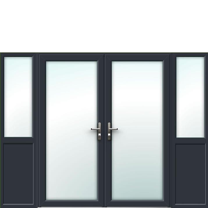 Aluminium French Door Style 17