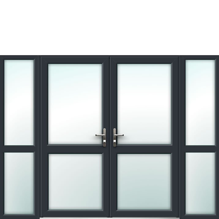 Aluminium French Door Style 18