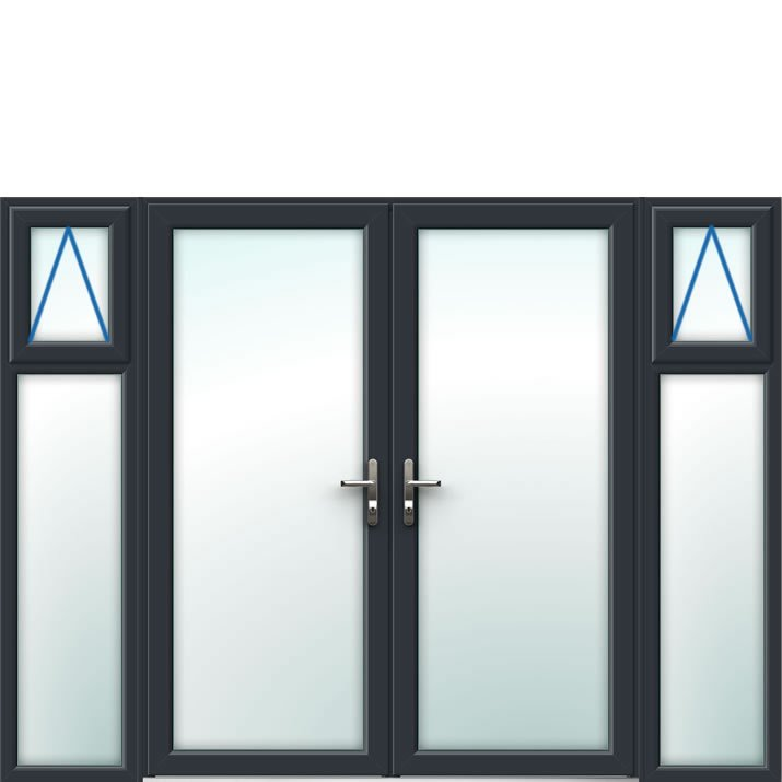 Aluminium French Door Style 20