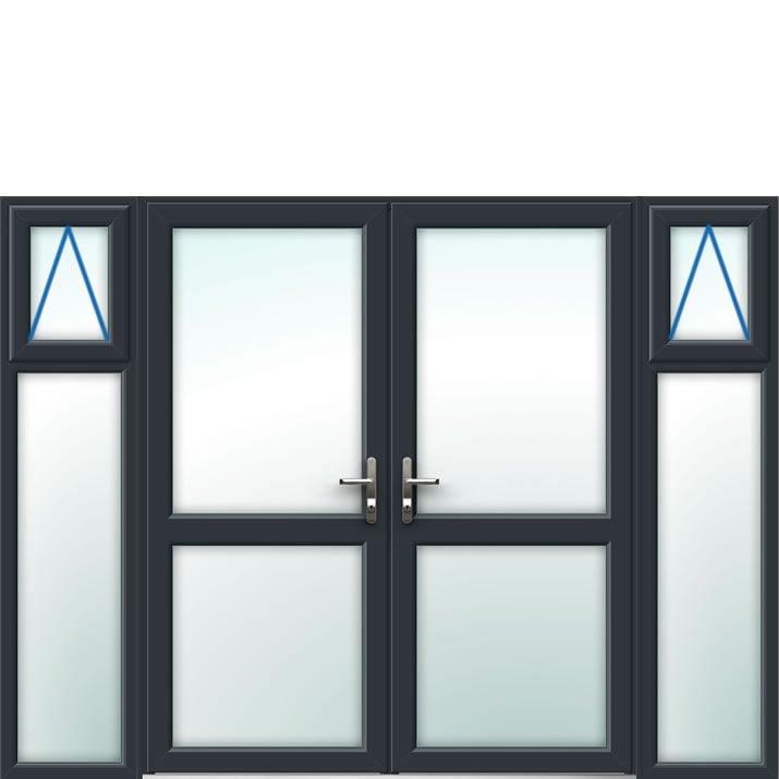 Aluminium French Door Style 21