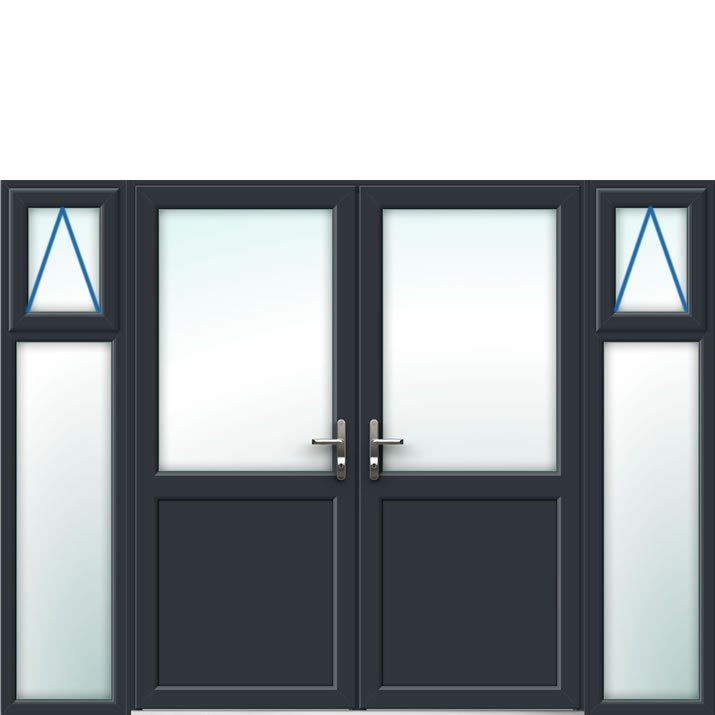 Aluminium French Door Style 22