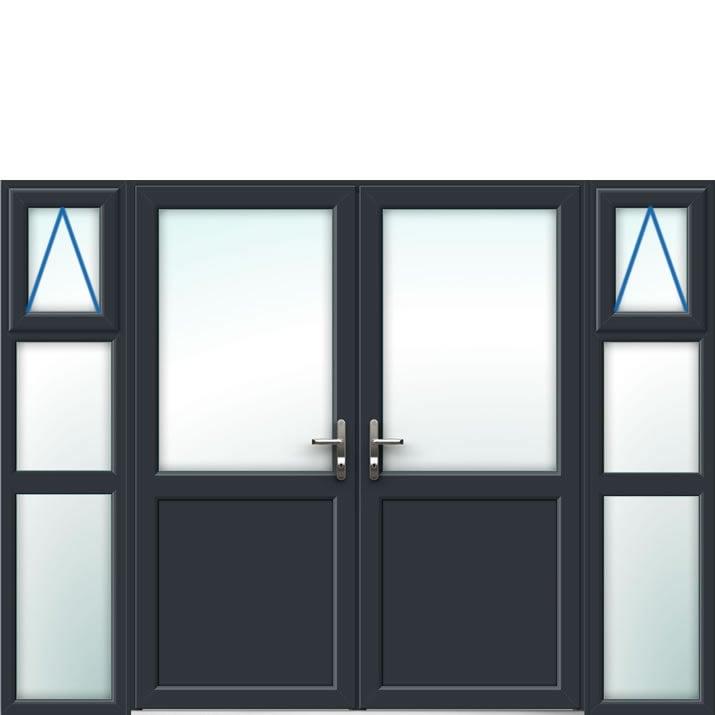 Aluminium French Door Style 23