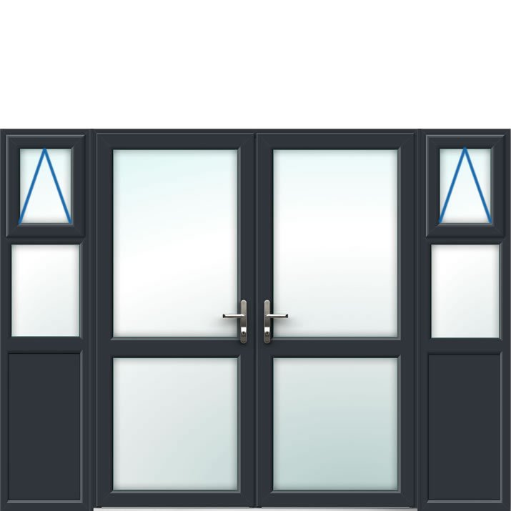 Aluminium French Door Style 24