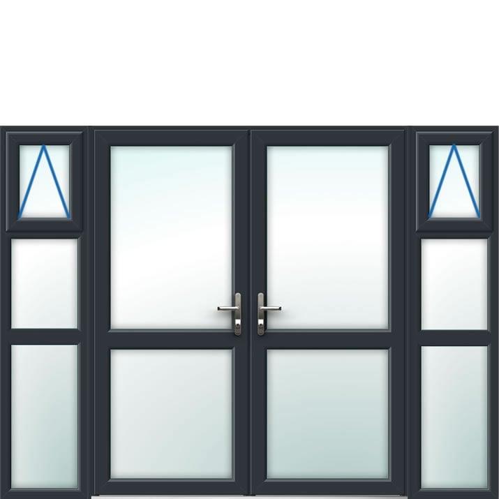 Aluminium French Door Style 25