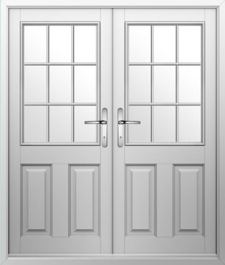 2 Panel 1 Grill Composite French Door
