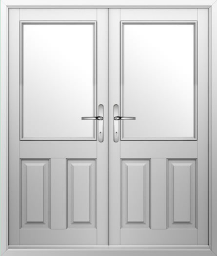 2 Panel 1 Square Composite French Door