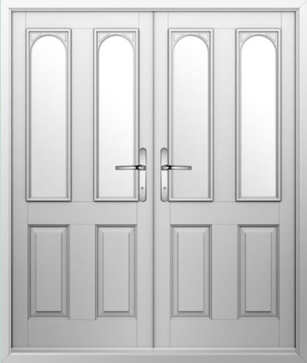 2 Panel 2 Arch Composite French Door