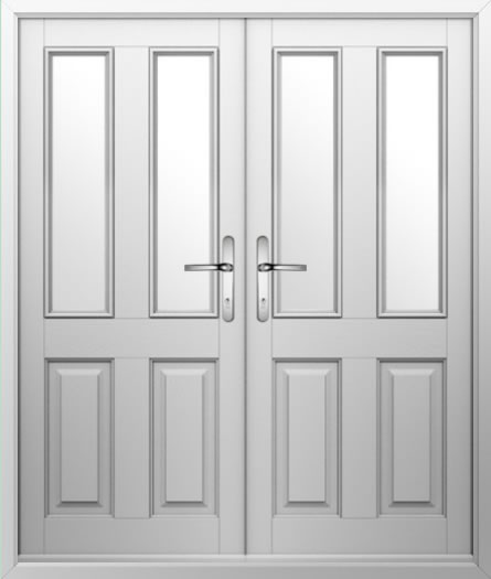 2 Panel 2 Square Composite French Door