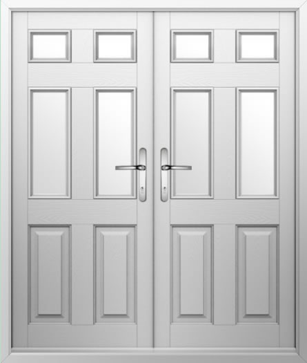 2 Panel 4 Square Composite French Door