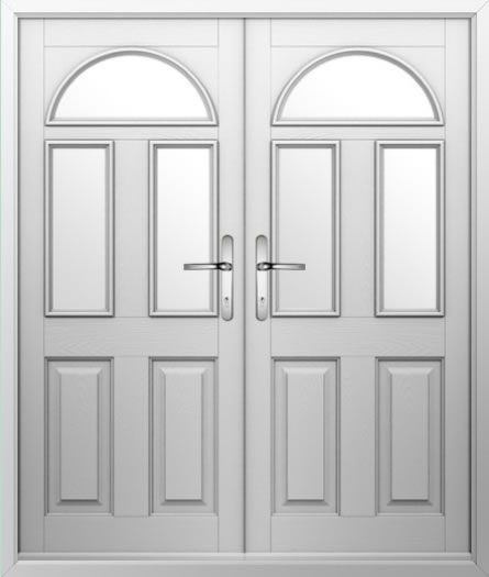 2 Square 1 Arch Composite French Door