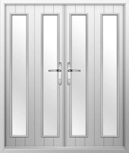 2 Strip Composite French Door