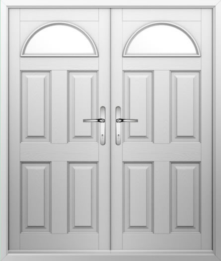 4 Panel 1 Arch Composite French Door