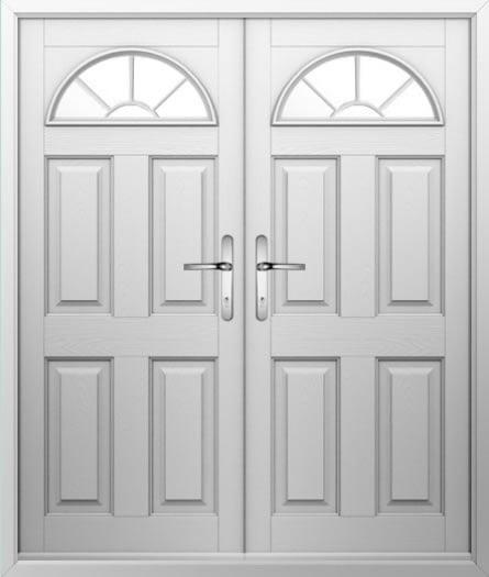 4 Panel 1 Sunburst Composite French Door