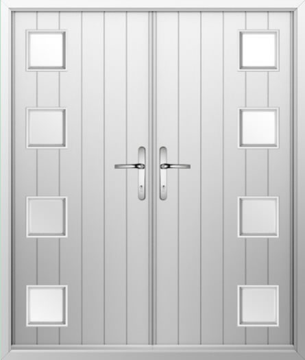4 Square Composite French Door