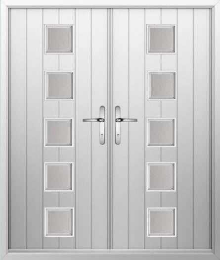 5 Square Composite French Door