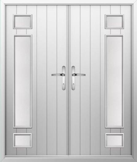 Broken Strip Composite French Door
