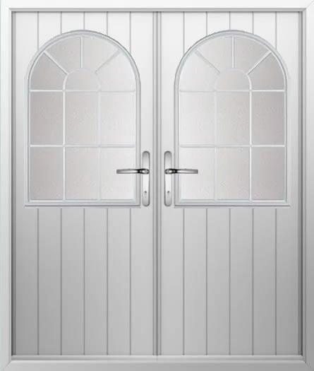 Cottage Sunburst Composite French Door