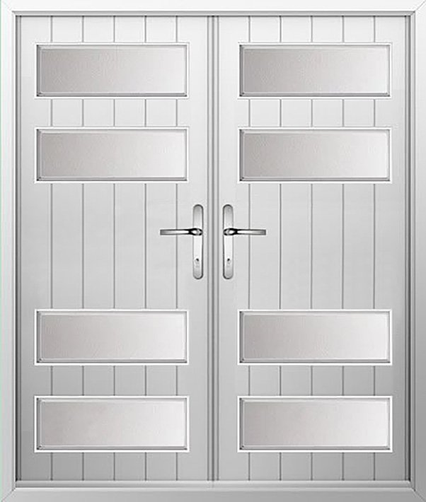 4 Panel Sunburst Composite French Door