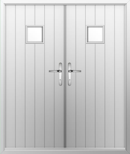 Small Square Composite French Door