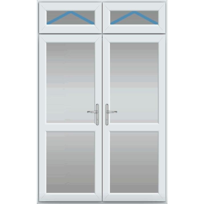 Top Light Inc Openers, Midrail Glazed, UPVC French Door