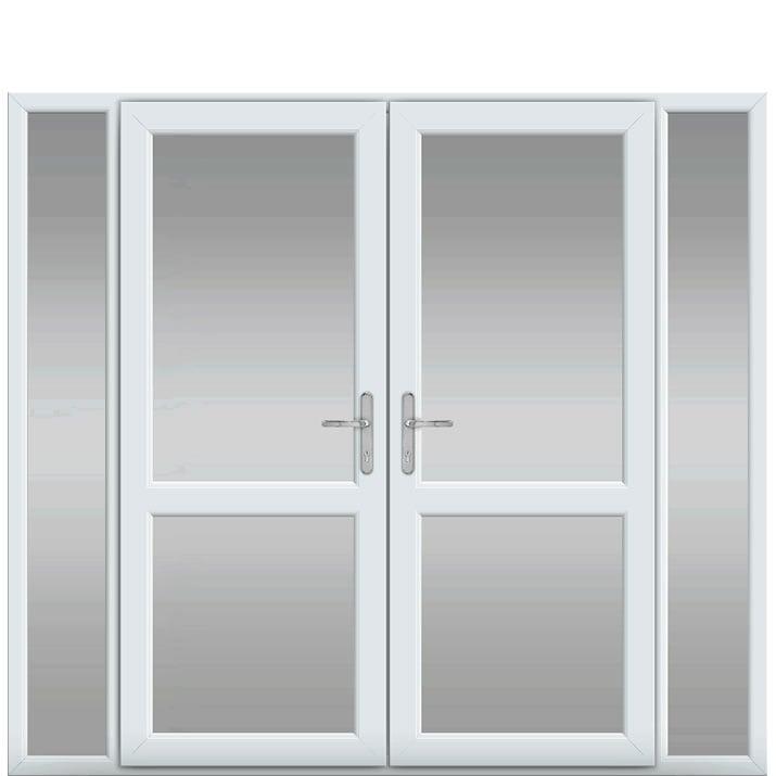 Side Panels, Midrail Glazed, UPVC French Door
