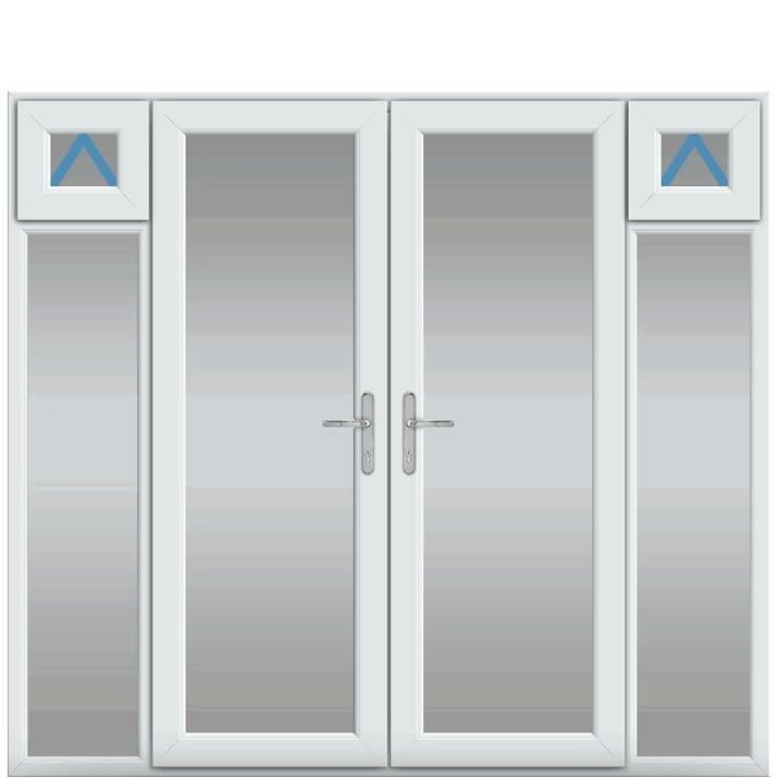 Side Panels Inc Openers, UPVC French Door