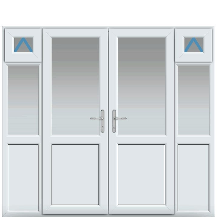 Side Panels with Midrail Panel Inc Openers, Midrail Panel, UPVC French Door