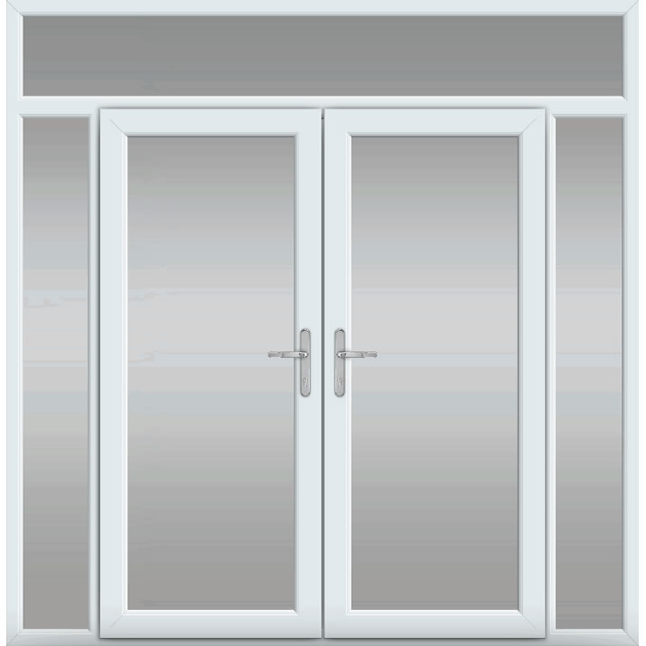 Top Light with Side Panels, UPVC French Door