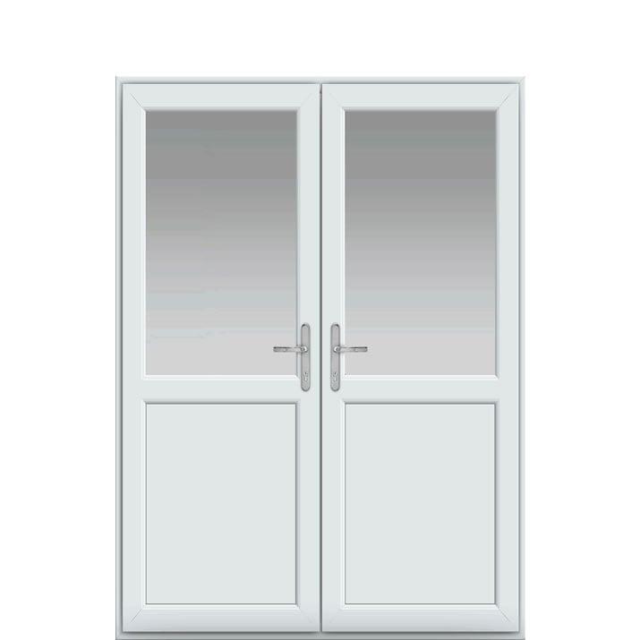 Midrail Panel, UPVC French Door