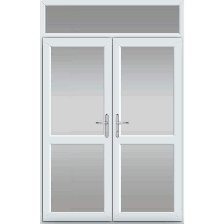 Top Light, Midrail Glazed, UPVC French Door