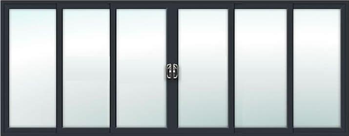6 Pane - Aluminium atio Door