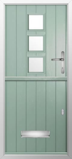 Composite stable door 3 3quare top style
