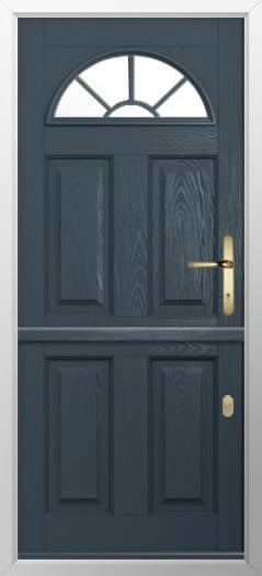 Composite stable door 4 Panel Sunburst style