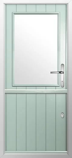 Composite stable door cottage half glaze style