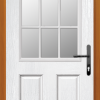 2 Panel Sunburst composite front door