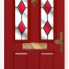 2 panel 2 square composite front door