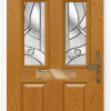 2 Panel 4 Square composite front door