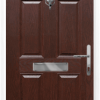 4 Panel Sunburst composite front door